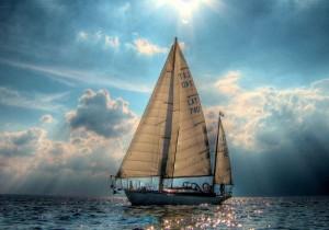 Корабль с парусами в фен-шуй